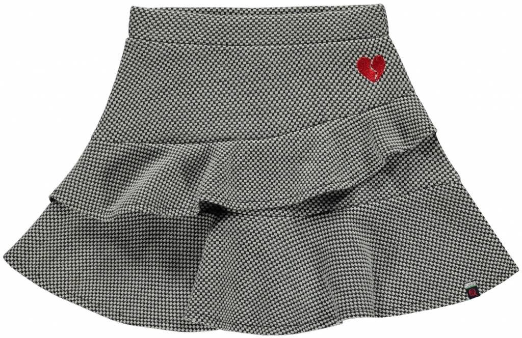 Quapi LIEVE Dark Grey Jaquard Skirt