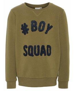 Name it Name it - Trui Boys Squad Burnt Olive