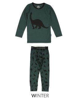 Claesen's Claesen's Boys Pyjama Set Green Dino