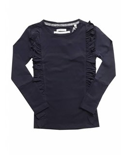 Topitm TOPitm - top ruffle Barbara dark blue