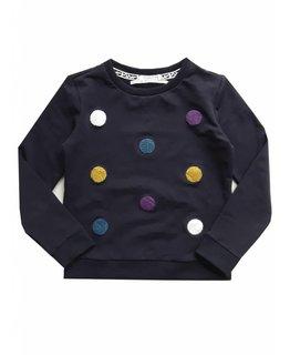Topitm TOPitm - sweater Poms navy