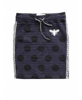 Topitm TOPitm - padded skirt Yari navy dots