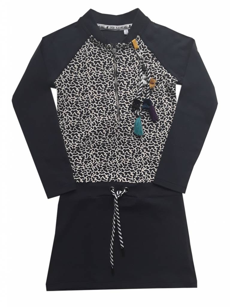 Topitm dress Josje navy/AOP dots