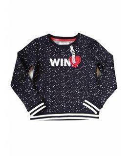 Topitm TOPitm - sweater Monique dots dark blue