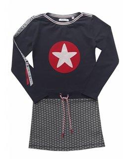 Topitm TOPitm - dress Sandy AOP/dark navy/star