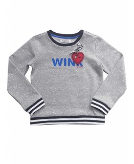 Topitm TOPitm - sweater Monique dots grey melee