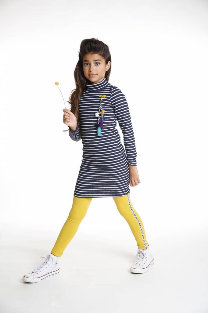 Topitm dress turtle Ella silver/navy stripe