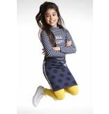 Topitm padded skirt Yari navy dots