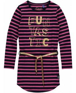 Quapi Quapi - LAMIRA 3 Dark Blue Stripe DRESS