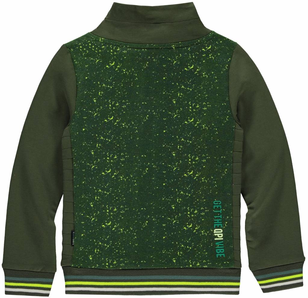 Quapi LIANO Dark Green Camouflage SWEATER
