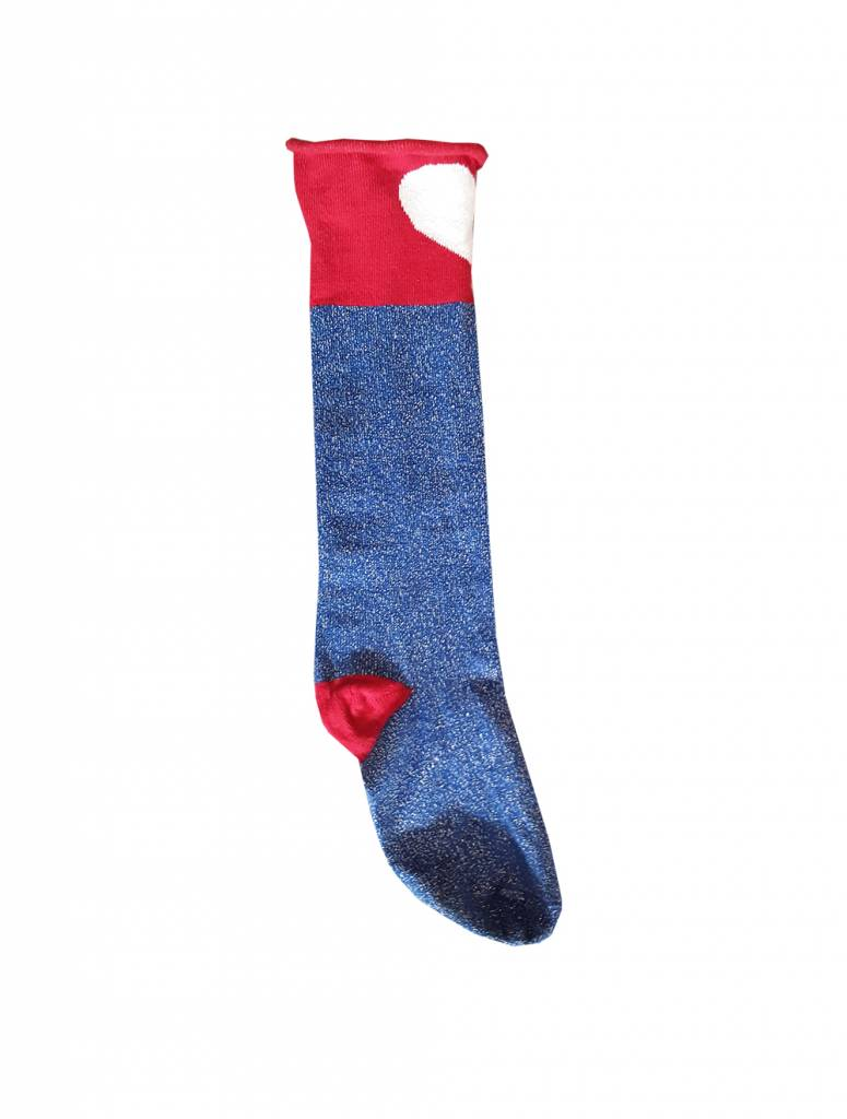 Topitm socks harts cobalt/red