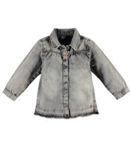 Babyface Babyface Girls blouse l.sl. Grey Denim