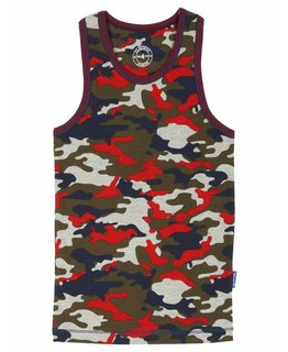 Claesen's Boys Singlet Red Army CL186150