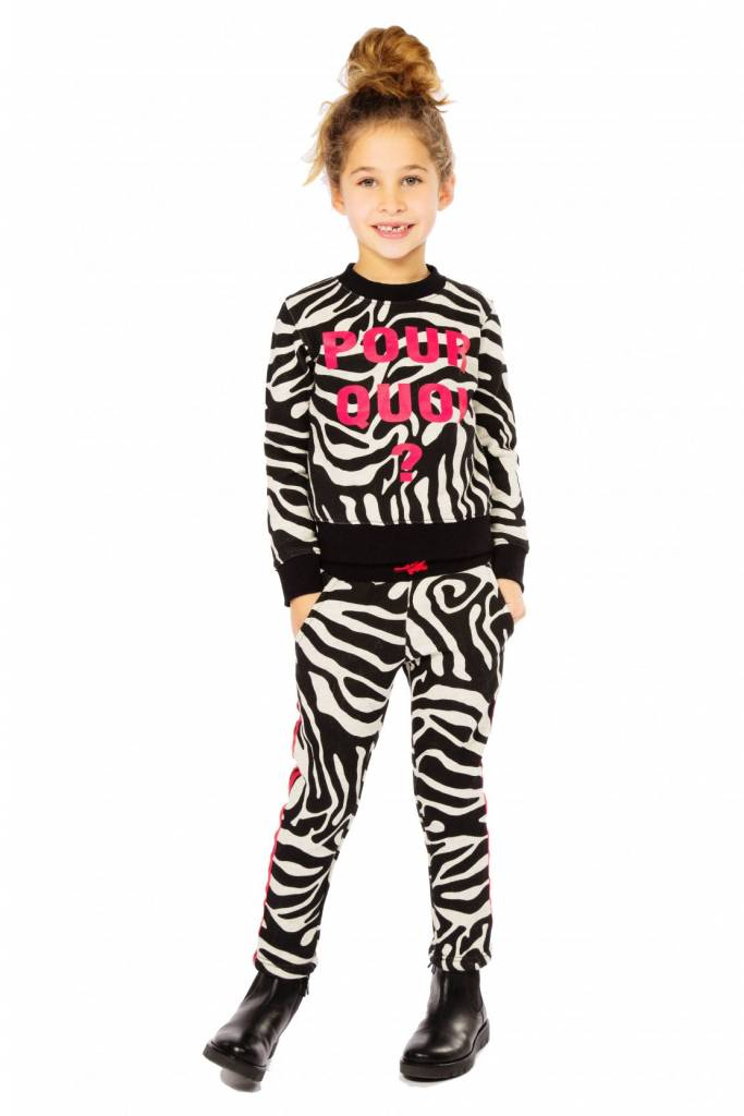 Claesen's Girls Sweater Zebra