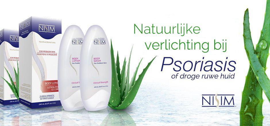 Verlichtende behandeling psoriasis of droge ruwe huid