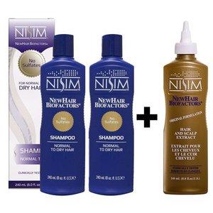 Nisim Startpakket Shampoo Normaal tot Droog en Extract naar keuze
