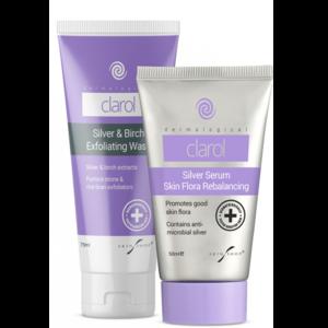 Skin Shop Clarol Silver Serum + Exfoliating Wash Duo Pack
