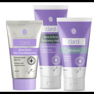 Skin Shop Clarol Sebopure + Silver Serum + Exfoliating Wash Total Care Pack