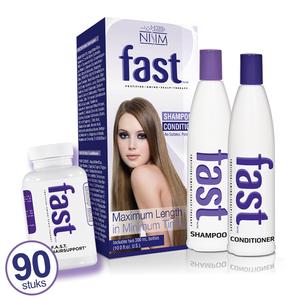 FAST (sulfaatvrij) shampoo en conditioner plus ondersteunende supplementen