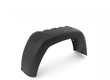 Anhängerkotflügel aus Kunststoff für Einachsanhänger eckig