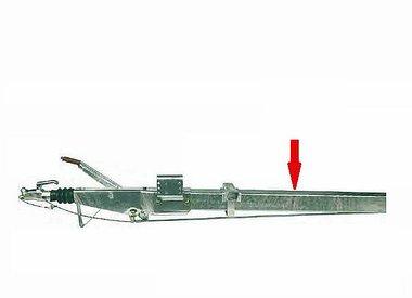 Freni a repulsione attacco quadro 70x70mm con timone diritto fino a 1600kg