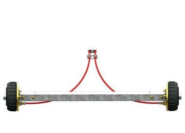 Assali rigidi frenati fino a 1800kg tipo BS 1800