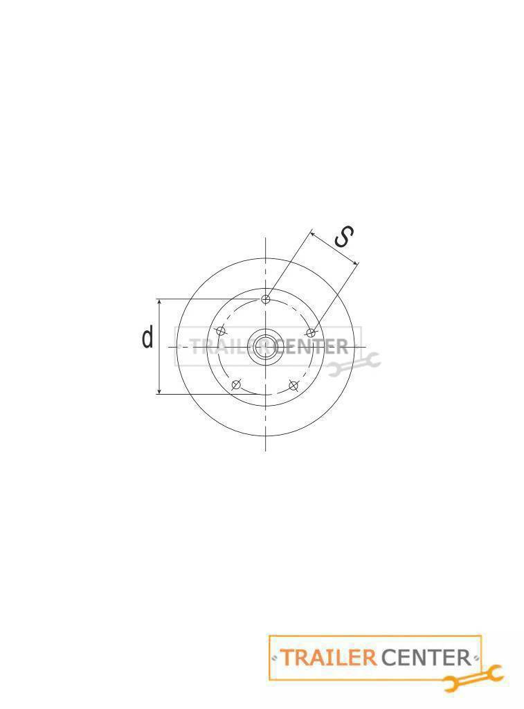 AL-KO AL-KO Achse für gebremste Anhänger • Typ B 1200-5 • bis 1300kg • Radanschluss 112x5