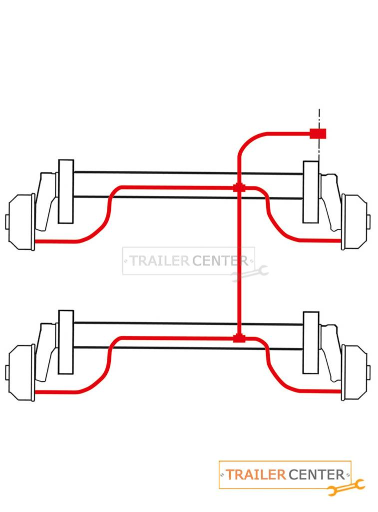 AL-KO AL-KO Sistema di lavaggio dei freni ruota assale tandem