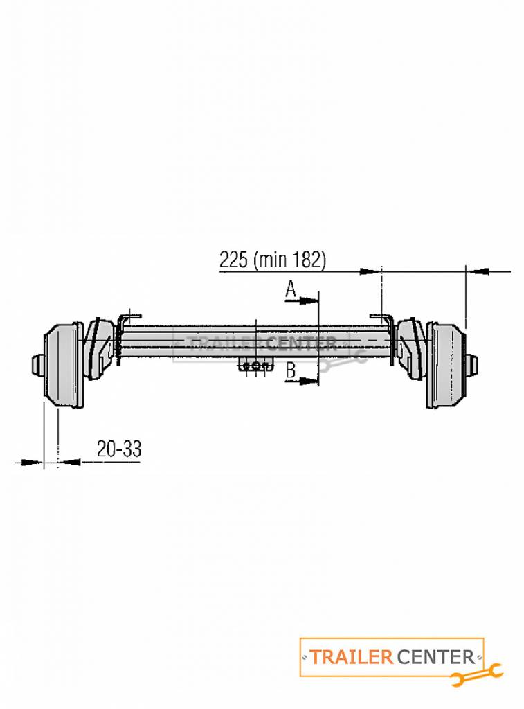 AL-KO AL-KO Achse für gebremste Anhänger • Typ B 850 • bis 850kg • Radanschluss 130x4