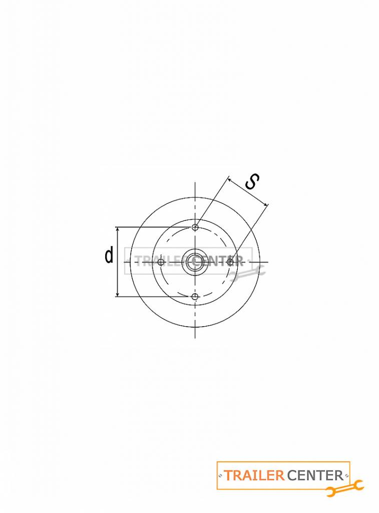 AL-KO AL-KO Assale per rimorchi frenati • tipo B 850 • fino a 850kg • foratura 130x4