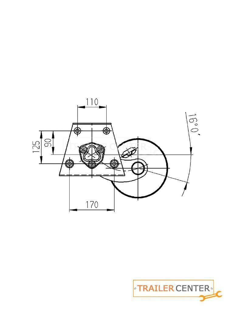 AL-KO AL-KO Achse für gebremste Wohnwagen • Typ Delta SI-N 12 • bis 1300kg • Radanschluss 112x5