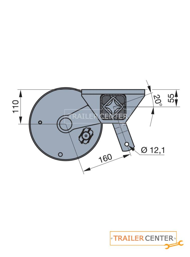 BPW BPW Assale per rimorchi frenati • tipo CB 1354 • fino a 1350kg • foratura 100x4