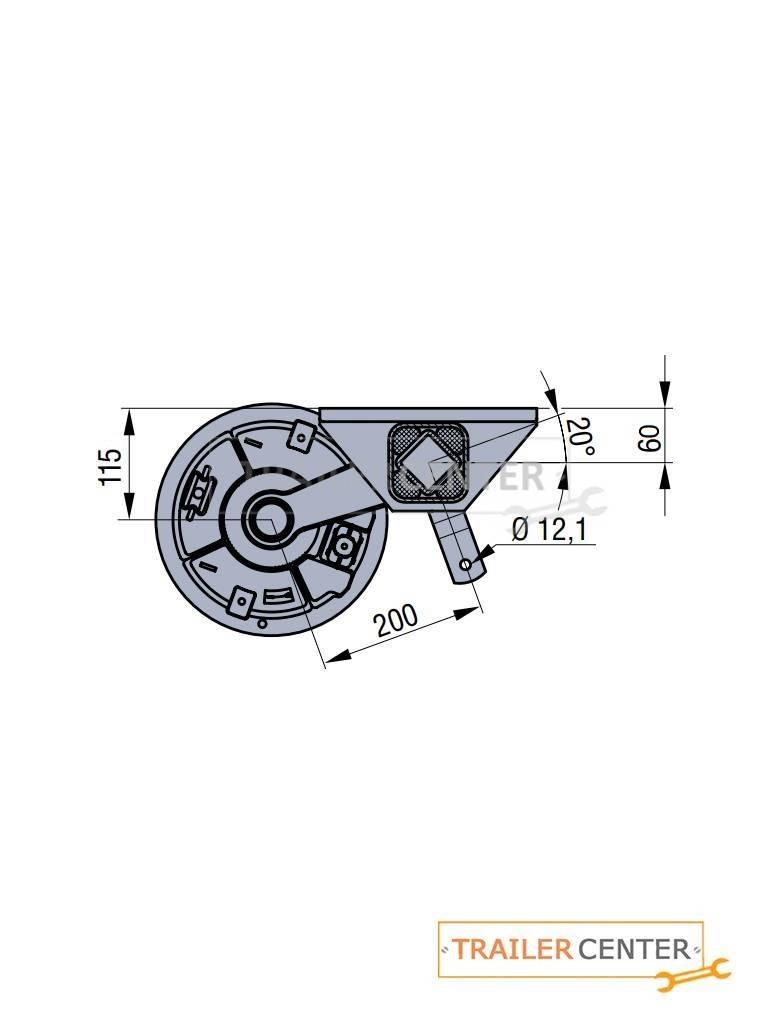 BPW BPW Achse für gebremste Anhänger • Typ CB 1805 • bis 1800kg • Radanschluss 112x5