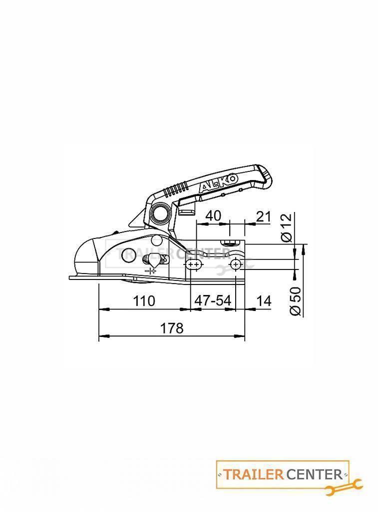 AL-KO AL-KO Kugelkupplung AK 270 mit Soft-Dock • 50mm rund