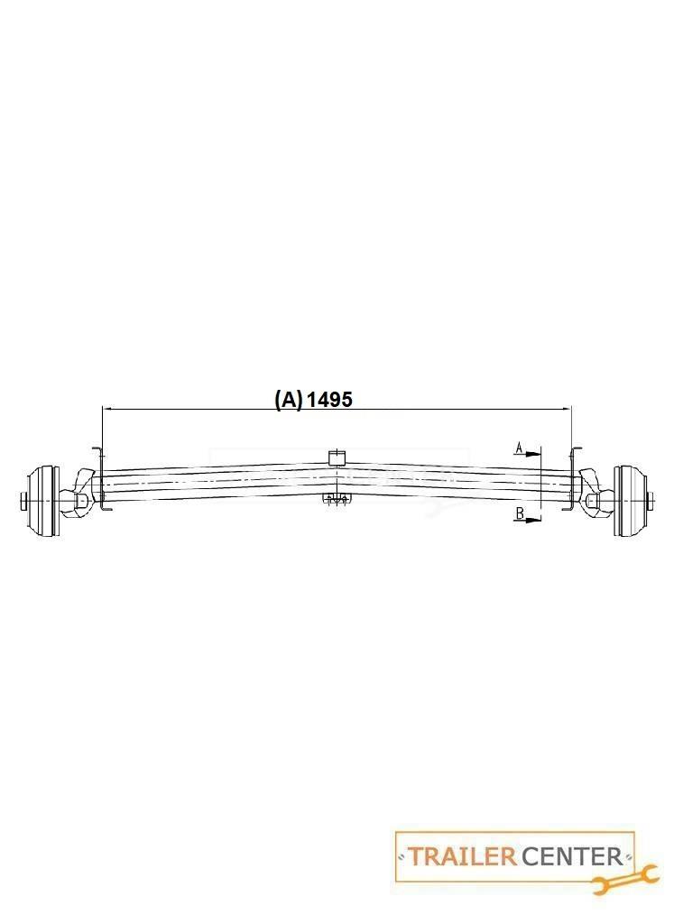 AL-KO AL-KO Achse für gebremste Wohnwagen • Typ Delta SI-N 12 • bis 1360kg • Radanschluss 112x5