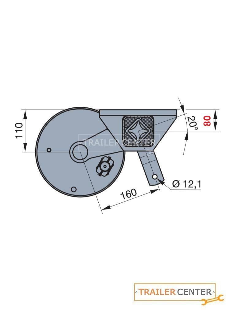 BPW BPW Achse für gebremste Anhänger Typ CB 1355 • bis 1350kg • Radanschluss 112x5