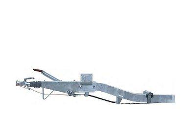 Freni a repulsione attacco quadro con timone curvo fino a 1600kg
