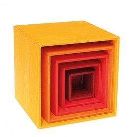 Grimm's Grimm's kleine blokkentoren geel/oranje/rood
