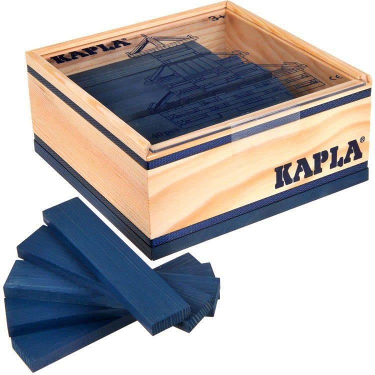 Kapla speelgoed Kapla Donkerblauw (40 stuks)