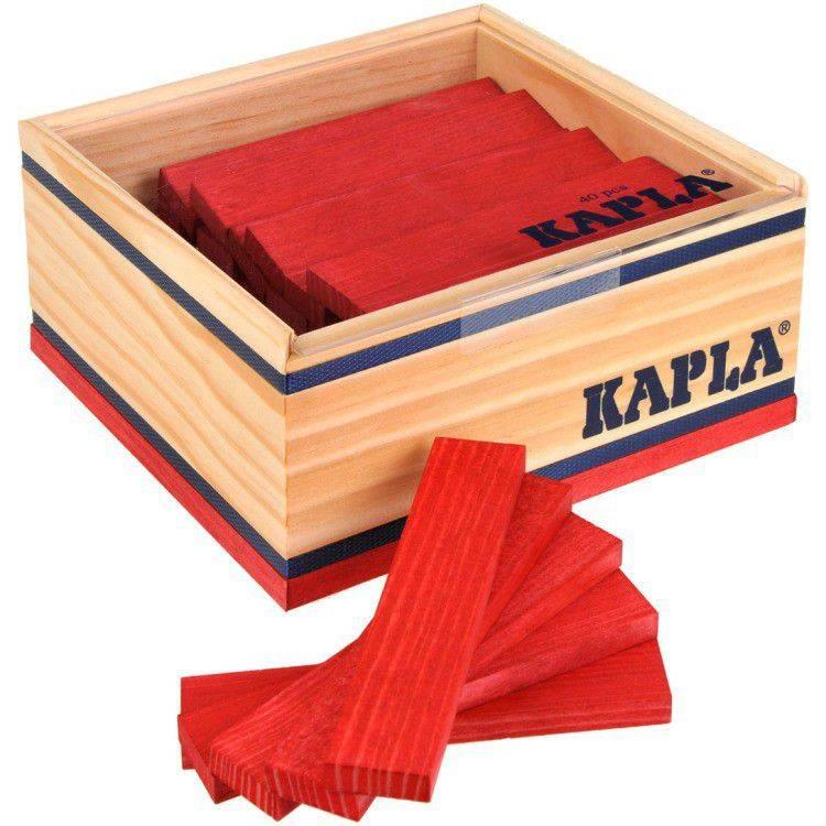 Kapla speelgoed Kapla Rood (40 stuks)