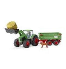 Schleich Schleich Tractor met aanhanger
