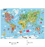 Janod Puzzel Wereld, 300 stuks, in koffer.