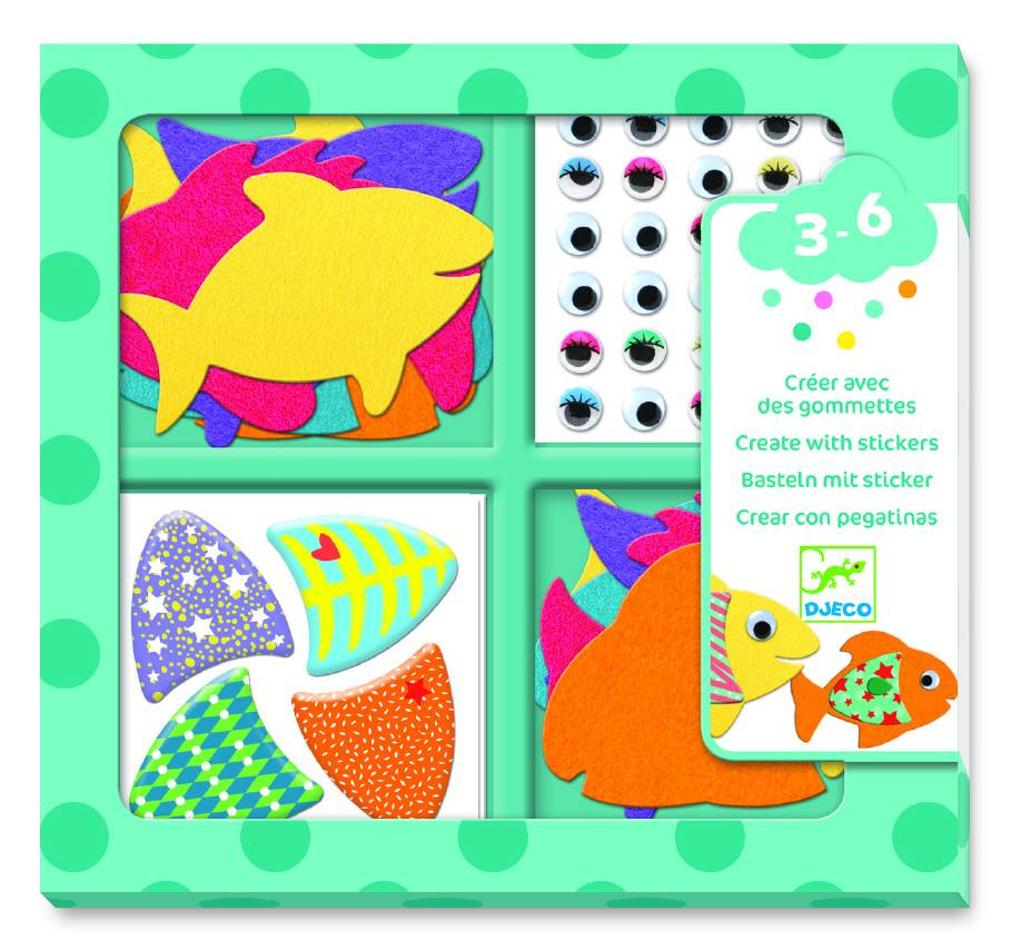 Djeco Djeco creëren met stickers