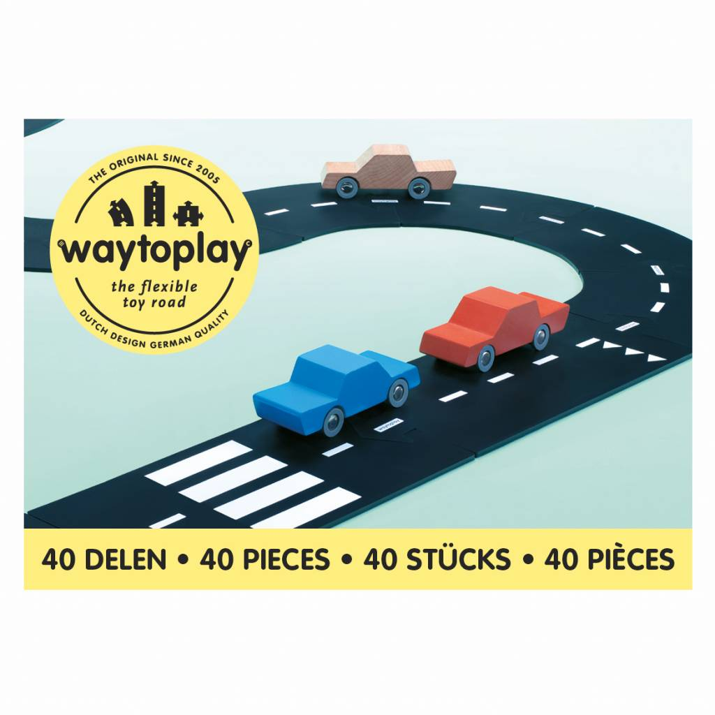 Waytoplay Waytoplay Flexibele autobaan - King of the road