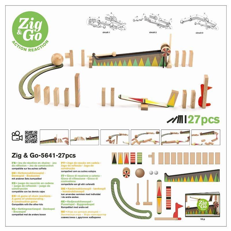 Djeco Zig & Go actie/reactie baan (27 stuks)