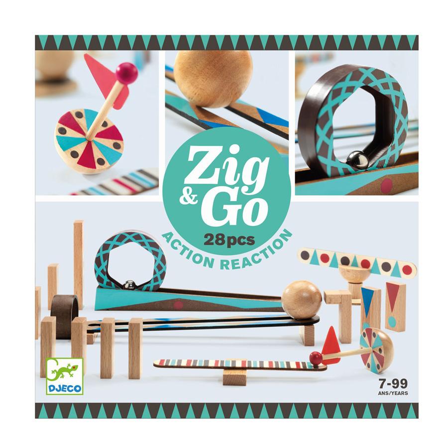 Djeco Zig & Go actie/reactie baan (28 stuks)