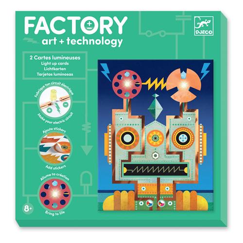 Djeco Djeco Kunst en Technologie: Lichtkaarten 'Cyborgs'