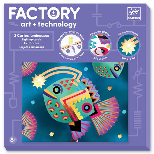 Djeco Djeco Kunst en Technologie: Lichtkaarten 'Diepzee'