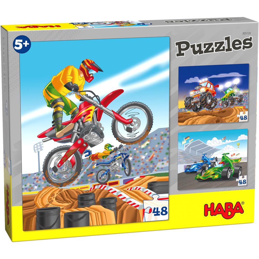 HABA 3 Haba puzzels 'Motorsport' 5+ (48 stuks)