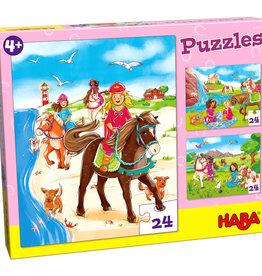 3 Haba puzzels 'Paardenvriendinnen'